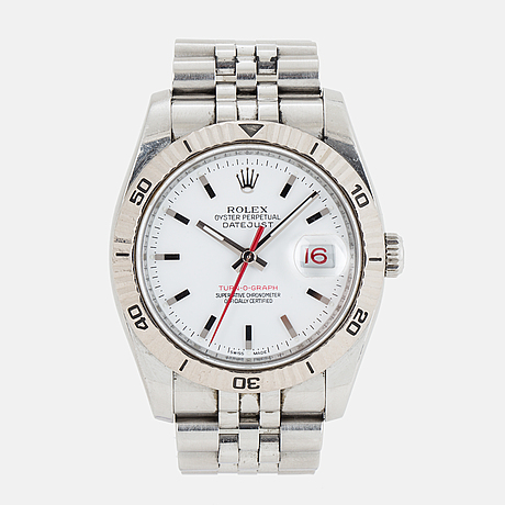 Rolex, oyster perpetual datejust, turn-o-graph, wristwatch, 36 mm.