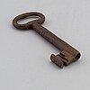 Nyckel, större modell, smide, 1700-tal.