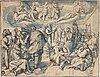 Jan van der straet (johannes stradanus), circle of. unsigned. watercolour and inkwash 20 x 26.5 cm.