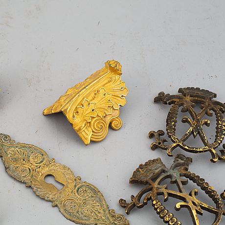 Beslag, 10 st, 1700-/1800-tal.