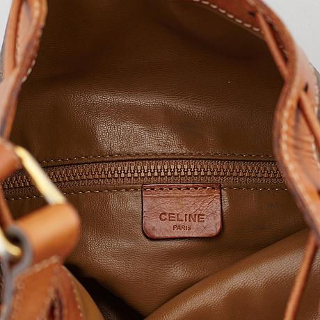 CÉline, 'macadam bucket bag'.