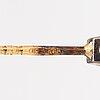 ÖrhÄngen, 2 par, 14k guld, diamanter ca 0.40 ct tot. med certifikat.