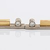 Earrings 18k gold and whitegold 2 brillant-cut diamonds 0,10 ct in total, liljeroths juvelform malmö 2003.