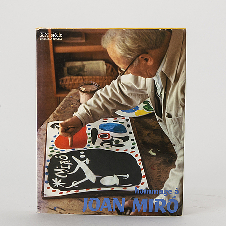 "Book, ""hommage a joan miró"", xx:e siècle, paris 1972."