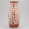 A large famille rose vase, qing dynasty, late 19th century.
