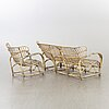 A sofa and a easy chair mid 20th century possibly by viggo boesen, denmark.