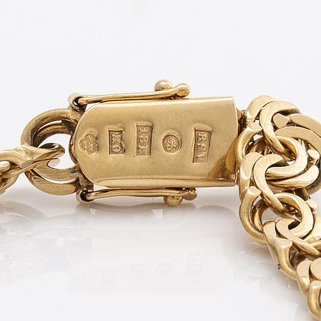 Bracelet 18k gold, 13,5 g, vibergs guldvaror avesta 1960.