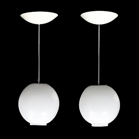 A pair of ceiling lights, late 20th century.
