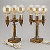 A pair of table lamps, second half of 1900's.