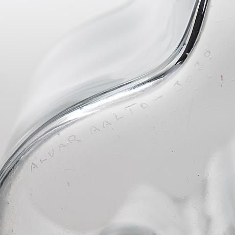 Alvar aalto, vaser, 2 st, modell 3030, iittala, finland.