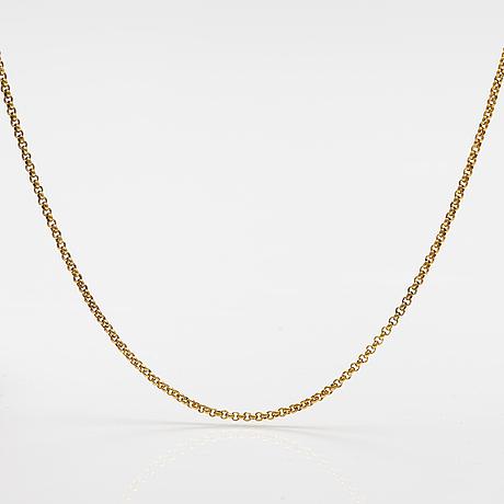 A 14k gold necklace. a tillander, helsinki.