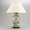 A famille rose style vase, mounted as a lamp, modern manufactory.