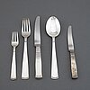 Jacob Ängman, a 'rosenholm' part silver cutlery, gab, stockholm/eskilstuna, second half of the 20th century (60 pieces).