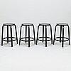Alvar aalto, a set of four '64' stools for artek 2013.