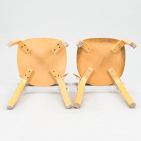 Alvar aalto, pöytä 82a ja 6 tuolia malli 69, artek 1900-luvun loppupuoli.
