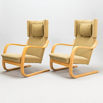ALVAR AALTO, a pair of mid-20th-century '36/401' for Artek.