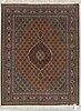 A rug, old tabriz, part silk, ca 201 x 152 cm.