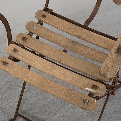 Eight mid 20th century garden chairs.