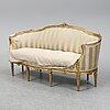 Soffa, gustaviansk stil, 1900-talets första hälft.