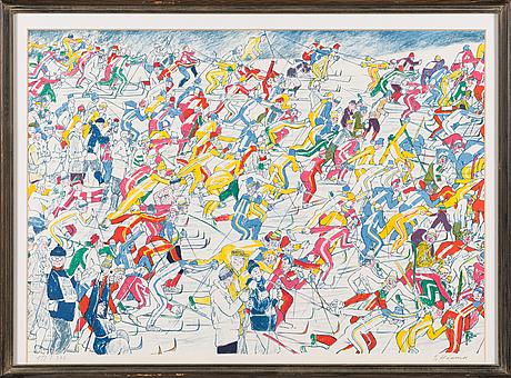 Eerik haamer,litografia, signeerattu, numeroitu 151/300.