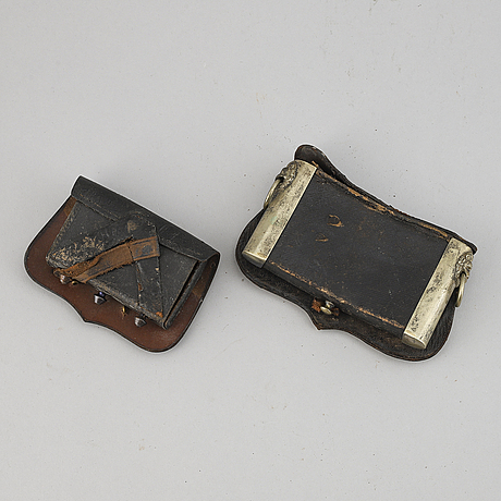 Two end of the 19th century german cartouche boxes.