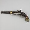 A swedish navy percussion pistol 1845 pattern.