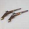 Two swedish percussion pistols 1850 pattern.