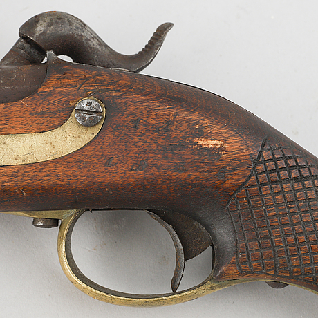 A swedish rifled percussion pistol 1850 pattern.