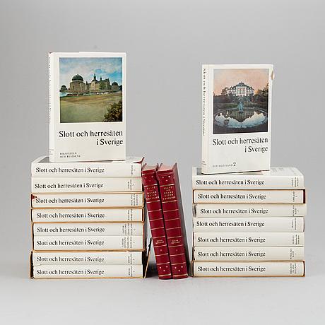 """Books, 1 vol, """"svenska slott och herresäten""""."""