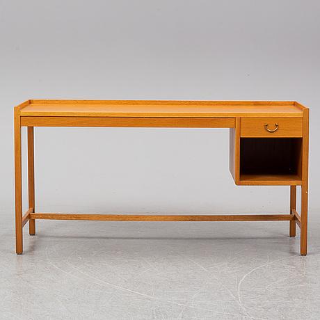 An oak veneered desk, second half of the 20th century.