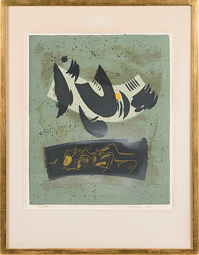 Lauri ahlgrÉn, lithograph, signed and dated 1967, numbered 90/99.