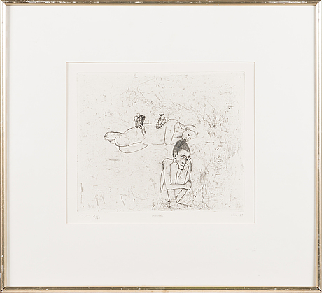 Outi heiskanen, etching, signed and dated -83, numbered 21/60.