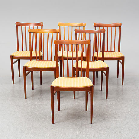 Carl malmsten, a 'herrgården' table with six chairs and two leaves.