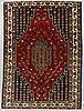A semi-antique mazlagan rug, ca 196 x 139 cm.