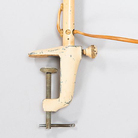 A 1950s industrial workshop desk lamp.