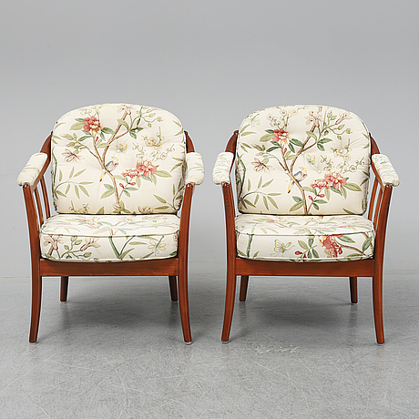 "A pair of ""andorra"" easy chairs from bröderna andersson, second half of 20th century."