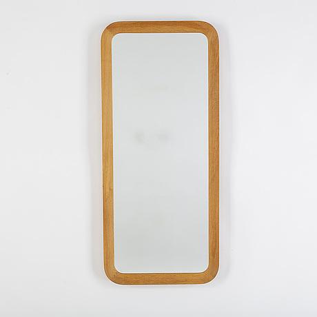 An oak framed mirror, glas & trä, hovmantorp, 1962.