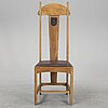 An oak art noveau chair from around year 1900.