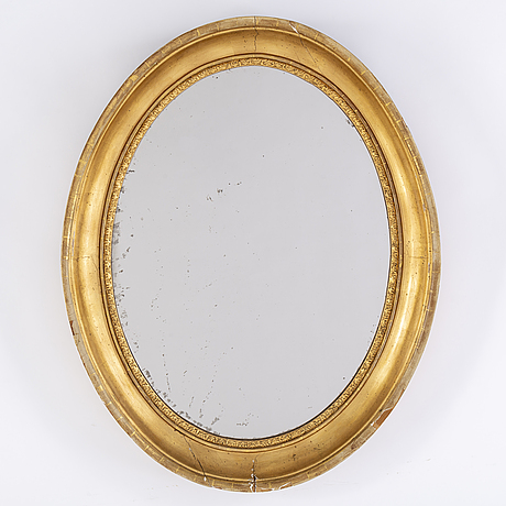 A gilt mirror, second half of the 20th century.