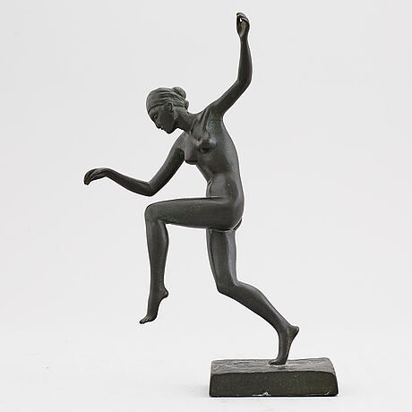Arvid knÖppel, sculpture. bronze. signed and dated -24. foundry mark. height 20.5 cm.