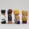 Eight stoneware figurines by lisa larson, gustavsberg.