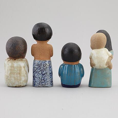 Lisa larson, figurer, 8 st, stengods, gustavsberg.