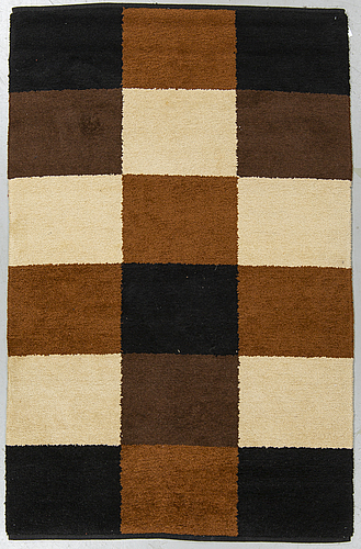 Astrid sampe probably, a rug, machine made, double-sided, ca 204-205,5 x 128-130 cm.