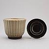 Ewald dahlskog, a 'tellus' ceramic plant pot and stand, bo fajans.