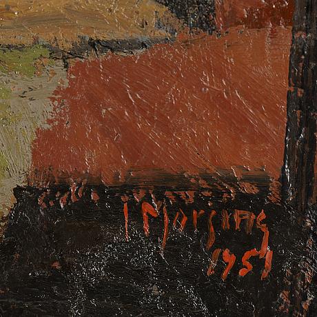 Ivar morsing, olja på duk, signerad.
