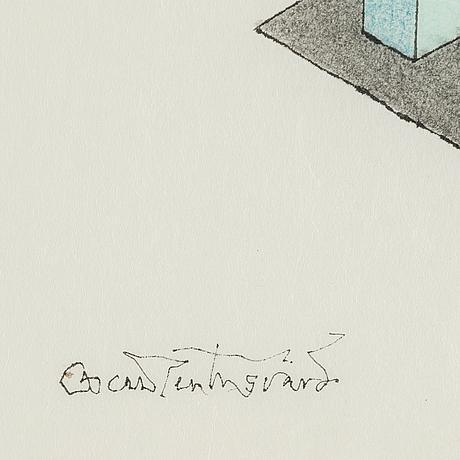 Oscar reutersvÄrd, tusch & akvarell, signerad.