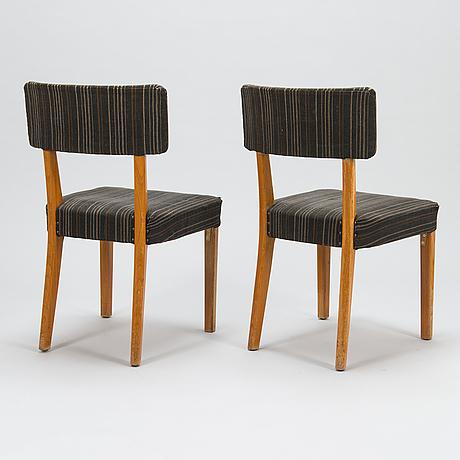 Aino aalto, tuoleja, 6 kpl, o.y. huonekalu- ja rakennustyötehdas a.b. 1940-luku.