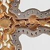 Riipus/risti, 14k kultaa, timantteja n. 1.15 ct yht. pertti tevilin, helsinki 1997.