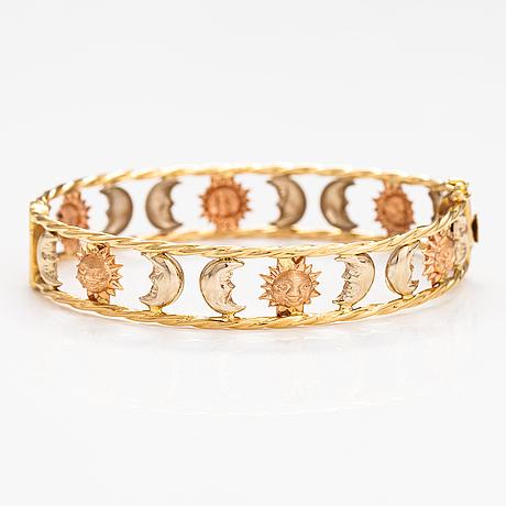 Armband, 18k rött och gult guld. graziella, italien.
