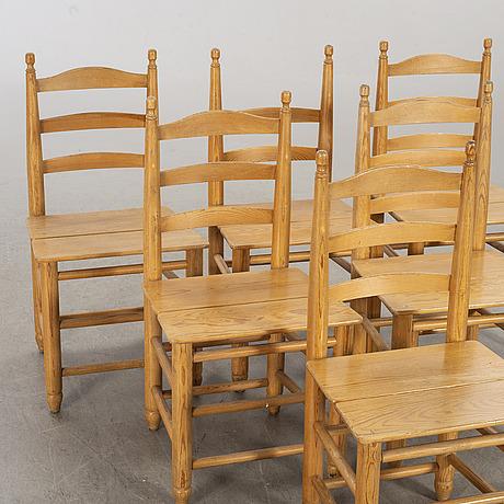 Six 20th century chairs.